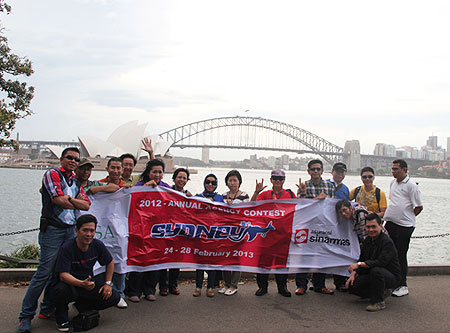 "Winner of 2012 Asuransi Sinarmas Agency Contest ""Sydney, Australia"